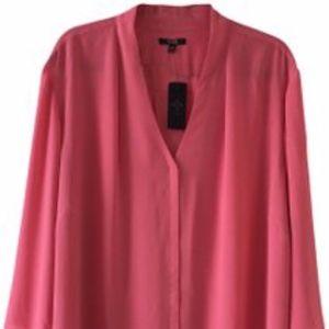 NYDJ Pink V-Neck Blouse Top 3X  NWT